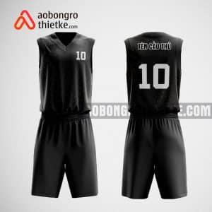 Mẫu quần áo bóng rổ thiết kế màu đen ABR476