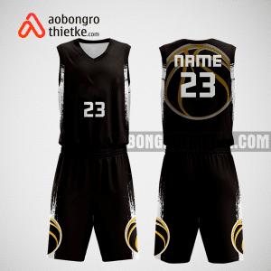 Mẫu quần áo bóng rổ thiết kế màu đen eagle ABR276