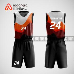 Mẫu quần áo bóng rổ thiết kế màu đen black ABR106