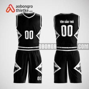 Mẫu quần áo bóng rổ thiết kế màu đen black lion ABR156