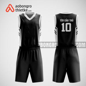 Mẫu quần áo bóng rổ thiết kế màu đen black lion ABR169