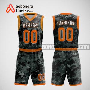 Mẫu quần áo bóng rổ thiết kế màu đen cam ABR90