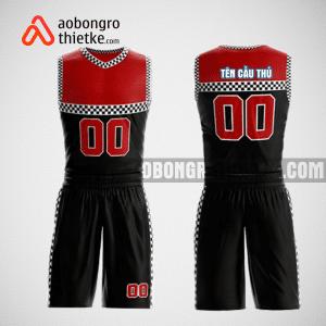 Mẫu quần áo bóng rổ thiết kế màu đen đỏ ABR174