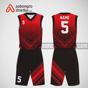 Mẫu quần áo bóng rổ thiết kế màu đen đỏ blackred ABR262