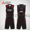 Mẫu quần áo bóng rổ thiết kế màu đen đỏ blackred ABR289