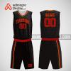 Mẫu quần áo bóng rổ thiết kế màu đen đỏ blackred ABR293