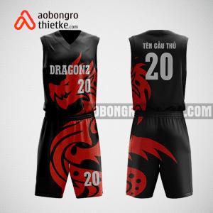 Mẫu quần áo bóng rổ thiết kế màu đen đỏ dragon ABR81