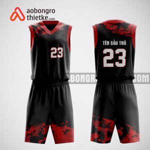 Mẫu quần áo bóng rổ thiết kế màu đen đỏ nion ABR167