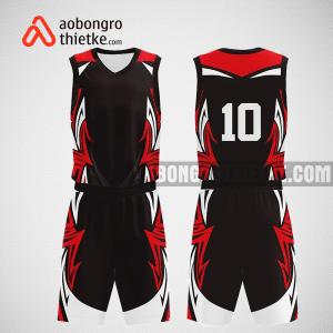 Mẫu quần áo bóng rổ thiết kế màu đen đỏ toll ABR278