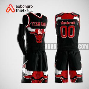Mẫu quần áo bóng rổ thiết kế màu đen đỏ trắng ABR160