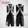 Mẫu quần áo bóng rổ thiết kế màu đen trắng edm ABR223