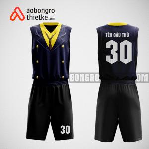 Mẫu quần áo bóng rổ thiết kế màu đen vàng BLACK ABR119