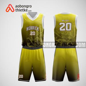 Mẫu quần áo bóng rổ thiết kế màu đen vàng dragon ABR190