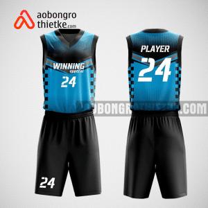 Mẫu quần áo bóng rổ thiết kế màu đen xanh BLACK ABR109