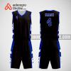 Mẫu quần áo bóng rổ thiết kế màu đen xanh black ABR292
