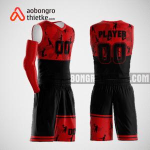Mẫu quần áo bóng rổ thiết kế màu đỏ đen ABR161