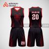 Mẫu quần áo bóng rổ thiết kế màu đỏ đen Cat ABR199