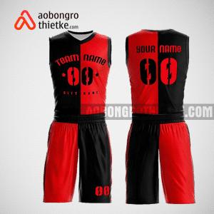 Mẫu quần áo bóng rổ thiết kế màu đỏ đen black lion ABR180