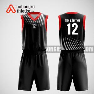 Mẫu quần áo bóng rổ thiết kế màu đỏ đen black red ABR171