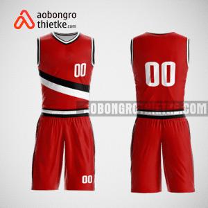 Mẫu quần áo bóng rổ thiết kế màu đỏ đen red ABR138