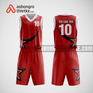 Mẫu quần áo bóng rổ thiết kế màu đỏ đen star ABR143