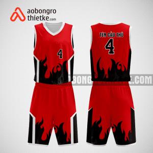 Mẫu quần áo bóng rổ thiết kế màu đỏ đen will ABR240