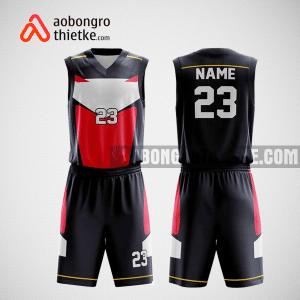 Mẫu quần áo bóng rổ thiết kế màu đỏ đen xám ABR207