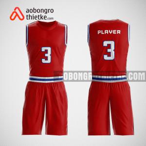 Mẫu quần áo bóng rổ thiết kế màu đỏ red ABR145