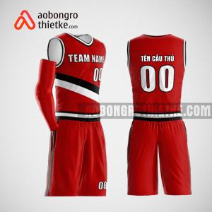 Mẫu quần áo bóng rổ thiết kế màu đỏ red lion ABR175