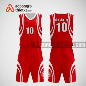 Mẫu quần áo bóng rổ thiết kế màu đỏ trắng lead ABR247