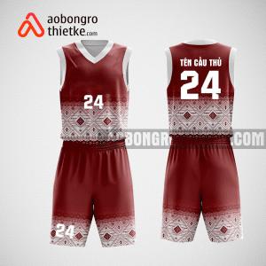 Mẫu quần áo bóng rổ thiết kế màu đỏ trắng mysth ABR113