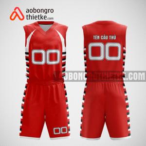 Mẫu quần áo bóng rổ thiết kế màu đỏ trắng red ABR228