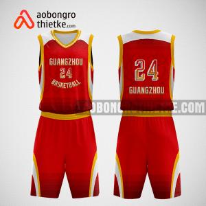 Mẫu quần áo bóng rổ thiết kế màu đỏ vàng redyellow ABR267
