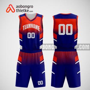 Mẫu quần áo bóng rổ thiết kế màu đỏ xanh Msi ABR253