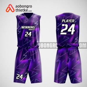 Mẫu quần áo bóng rổ thiết kế màu tím ABR108