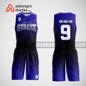 Mẫu quần áo bóng rổ thiết kế màu tím đen black ABR103