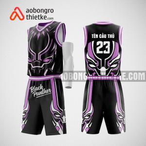 Mẫu quần áo bóng rổ thiết kế màu tím đen black panther ABR129