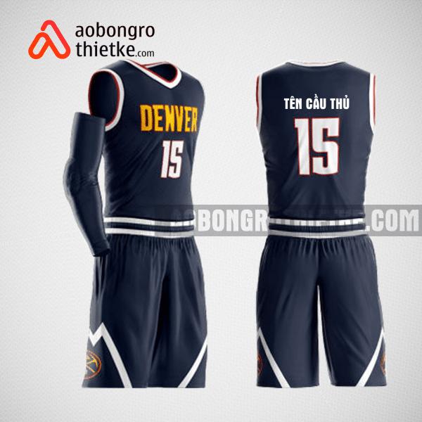 Mẫu quần áo bóng rổ thiết kế màu tím than ABR154