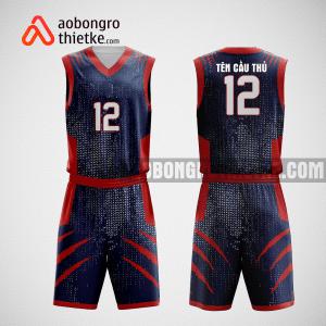 Mẫu quần áo bóng rổ thiết kế màu tím than đỏ ABR84
