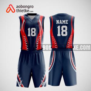 Mẫu quần áo bóng rổ thiết kế màu tím than đỏ ABR91