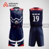 Mẫu quần áo bóng rổ thiết kế màu tím than đỏ RED ABR205