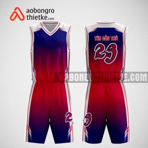 Mẫu quần áo bóng rổ thiết kế màu tím than đỏ heat ABR246