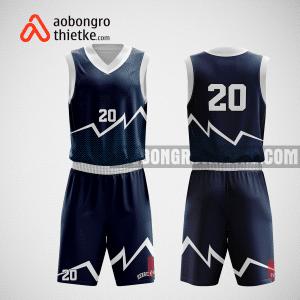 Mẫu quần áo bóng rổ thiết kế màu tím than mountain ABR192