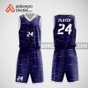 Mẫu quần áo bóng rổ thiết kế màu tím trắng Violet ABR115
