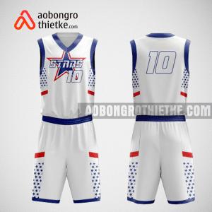 Mẫu quần áo bóng rổ thiết kế màu trắng STAR ABR68
