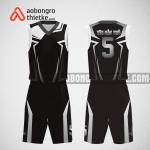 Mẫu quần áo bóng rổ thiết kế màu trắng đen black ABR242