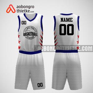 Mẫu quần áo bóng rổ thiết kế màu trắng đen boss ABR260