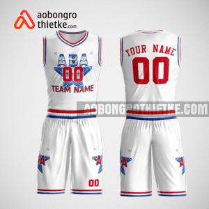 Mẫu quần áo bóng rổ thiết kế màu trắng đỏ ABA ABR71