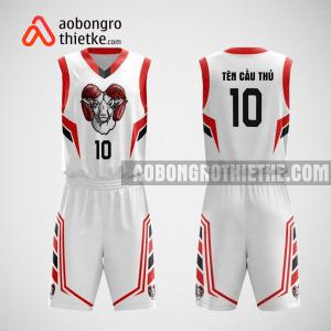 Mẫu quần áo bóng rổ thiết kế màu trắng đỏ goat ABR80