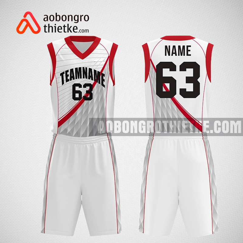 Mẫu quần áo bóng rổ thiết kế màu trắng đỏ redbull ABR291